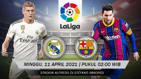 Pertandingan Real Madrid vs Barcelona (LaLiga). - INDOSPORT