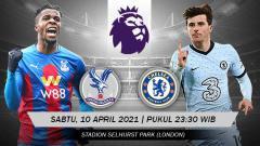 Indosport - Link live streaming Liga Inggris Crystal Palace vs Chelsea, Sabtu (10/4/21).