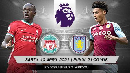 Berikut ini link live streaming pertandingan Liga Inggris antara Liverpool vs Aston Villa, Sabtu (10/04/21). - INDOSPORT