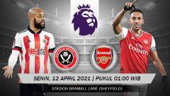 Indosport - Berikut prediksi untuk pertandingan pekan ke-31 Liga Inggris antara Sheffield United vs Arsenal, Senin (12/04/21) pukul 01.00 WIB.