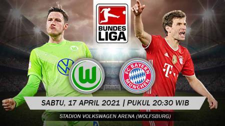 Pertandingan Wolfsburg vs Bayern Munchen (Bundesliga). - INDOSPORT