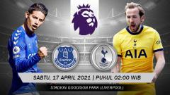 Indosport - Pertandingan Everton vs Tottenham Hotspur (Liga Inggris).