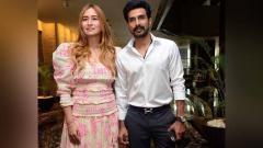Indosport - Pebulutangkis India Jwala Gutta dan calon suaminya Vishnu Vishal.