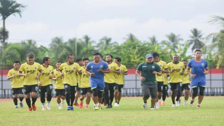 Skuat Muba Babel United yang sudah mulai menjalani latihan perdana. - INDOSPORT