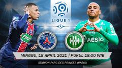 Indosport - Pertandingan Paris Saint-Germain vs Saint-Etienne (Ligue 1).