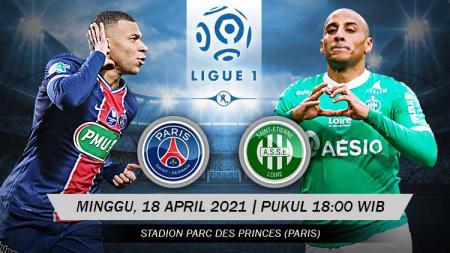 Pertandingan Paris Saint-Germain vs Saint-Etienne (Ligue 1). - INDOSPORT