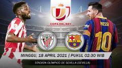 Indosport - Berikut link live streaming pertandingan final Copa del Rey 2020/21 antara Athletic Bilbao vs Barcelona.