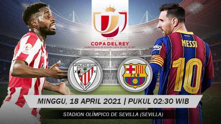 Pertandingan Athletic Club Bilbao vs Barcelona (Copa del Rey). - INDOSPORT