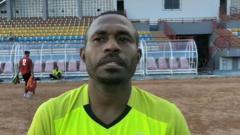 Indosport - Penggawa anyar Muba Babel United, Angelberd Sani.