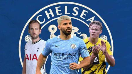 Dikaitkan dengan Sergio Aguero, Harry Kane, dan Erling Haaland di bursa transfer musim panas, siapa yang jadi opsi penyerang terbaik untuk Chelsea musim depan? - INDOSPORT