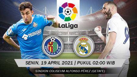 Link Live Streaming Pertandingan LaLiga Spanyol: Getafe vs Real Madrid - INDOSPORT
