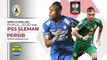 Laga leg kedua semifinal Piala Menpora 2021 antara PSS Sleman vs Persib Bandung di Stadion Manahan Solo, Senin (19/04/21). - INDOSPORT
