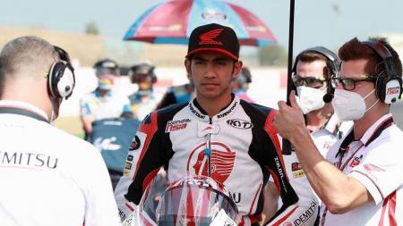 Andi Gilang pembalap Honda Team Asia di Moto3 asal Indonesia. - INDOSPORT