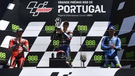Kemenangan Fabio Quartararo di MotoGP Portugal 2021. - INDOSPORT