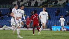 Indosport - Proses gol Sadio Mane di laga Leeds United vs Liverpool.