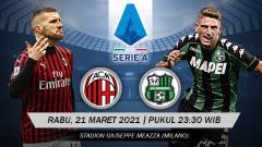 Indosport - Berikut link live streaming pertandingan lanjutan Serie A Italia giornata ke-32 antara AC Milan vs Sassuolo.