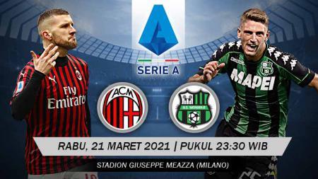 Berikut link live streaming pertandingan lanjutan Serie A Italia giornata ke-32 antara AC Milan vs Sassuolo. - INDOSPORT