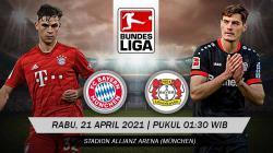 Berikut link live streaming pertandingan Bundesliga Jerman pekan ke-30 antara Bayern Munchen vs Bayer Leverkusen.