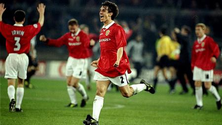 Pemandangan laga semifinal Liga Champions antara Juventus kontra Manchester United, 21 April 1999. - INDOSPORT