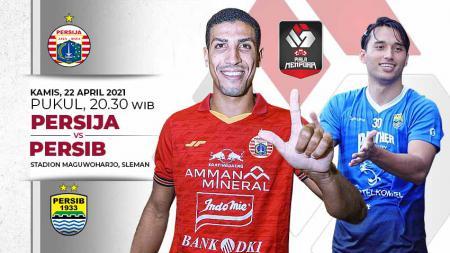 Pertandingan Persija Jakarta vs Persib Bandung (Piala Menpora 2021). - INDOSPORT