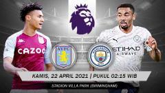 Indosport - Pertandingan Aston Villa vs Manchester City (Liga Primer Inggris).