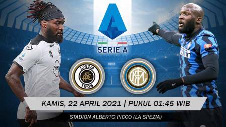 Pertandingan Spezia Calcio vs Inter Milan (Serie A). - INDOSPORT