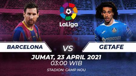 Berikut link live streaming pertandingan pekan ke-31 LaLiga Spanyol 2020-2021 antara Barcelona vs Getafe, Jumat (23/04/21) pukul 03:00 dini hari WIB. - INDOSPORT
