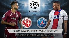 Indosport - Berikut prediksi pertandingan pekan ke-34 Ligue 1 Prancis 2020-2021 yang menampilkan pertandingan menarik antara Metz vs Paris Saint-Germain (PSG).