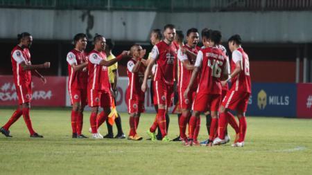 Laga leg 1 final Piala Menpora 2021 antara Persija vs Persib di Stadion Maguwoharjo, Kamis (22/04/21). - INDOSPORT