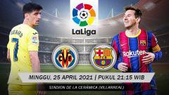 Indosport - Link Live Streaming Pertandingan LaLiga Spanyol: Villarreal vs Barcelona.