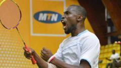 Indosport - Pebulutangkis Nigeria, Bello Rafiu Oyebanji.