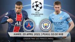 Indosport - Pertandingan Paris Saint-Germain vs Manchester City bisa disaksikan melalui live streaming.