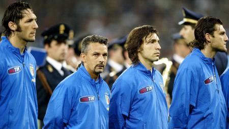 Laga perpisahan Roberto Baggio di timnas Italia, 28 April 2004. - INDOSPORT