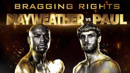 Floyd Mayweather Jr vs Logan Paul. - INDOSPORT