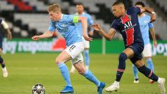 Indosport - Suasana pertandingan Paris Saint-Germain vs Manchester City di Liga Champions
