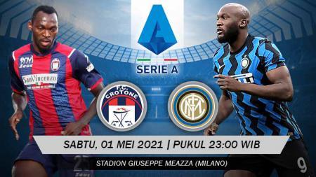 Prediksi Pertandingan Crotone vs Inter Milan (Serie A). - INDOSPORT