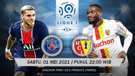 Pertandingan Paris Saint-Germain vs RC Lens (Ligue 1). - INDOSPORT