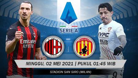 Link Live Streaming Serie Liga Italia: AC Milan vs Benevento - INDOSPORT