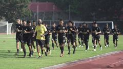 Indosport - Suasana latihan skuat Barito Putera.