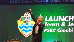 Indosport - Komisaris Utama tim sepak bola PSKC Cimahi, Eddy Moelyo.