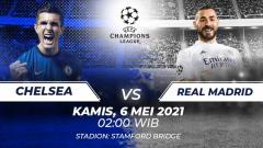 Indosport - Membedah duel per lini big match semifinal leg kedua Liga Champions 2020-2021 antara tim tuan rumah, Chelsea, melawan Real Madrid.