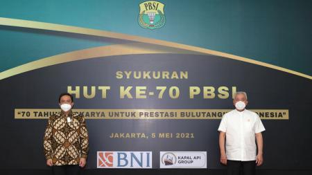Tepat pada perayaan HUT ke-70 Persatuan Bulutangkis Seluruh Indonesia, Rabu (5/5/21) kemarin, PBSI kini resmi menggandeng sponsor baru. - INDOSPORT
