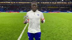 Indosport - N'Golo Kante terpilih menjadi Man of the Match laga Chelsea vs Real Madrid.