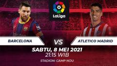 Indosport - Data dan fakta jelang Barcelona vs Atletico Madrid.
