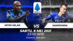 Indosport - Berikut link live streaming pertandingan pekan ke-35 Serie A Liga Italia 2020-2021 antara Inter Milan vs Sampdoria hari ini, Sabtu (08/05/21) pukul 23:00 WIB.
