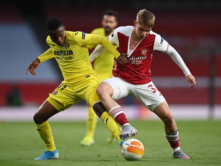 Suasana pertandingan Arsenal vs Villarreal di leg kedua semifinal Liga Europa Copyright: Twitter @Arsenal