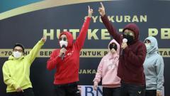 Indosport - PBSI tengah merayakan HUT ke-70 di Pelatnas Cipayung, Rabu (5/5/21). Selain seremonial, para atlet juga merayakannya dengan semarak.