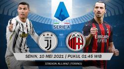 Pertandingan Juventus vs AC Milan (Serie A).