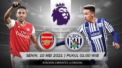 Indosport - Prediksi pertandingan pekan ke-35 Liga Inggris 2020-2021 antara tim peringkat sembilan, Arsenal, menghadapi tim zona merah, West Bromwich Albion.
