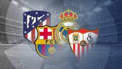 Indosport - Pekan panas akan tersaji pada pekan ke-35 LaLiga Spanyol 2020-2021, bagaimana hitung-hitungan juara keempat tim teratas? peluang Juara LaLiga 2020-2021.
